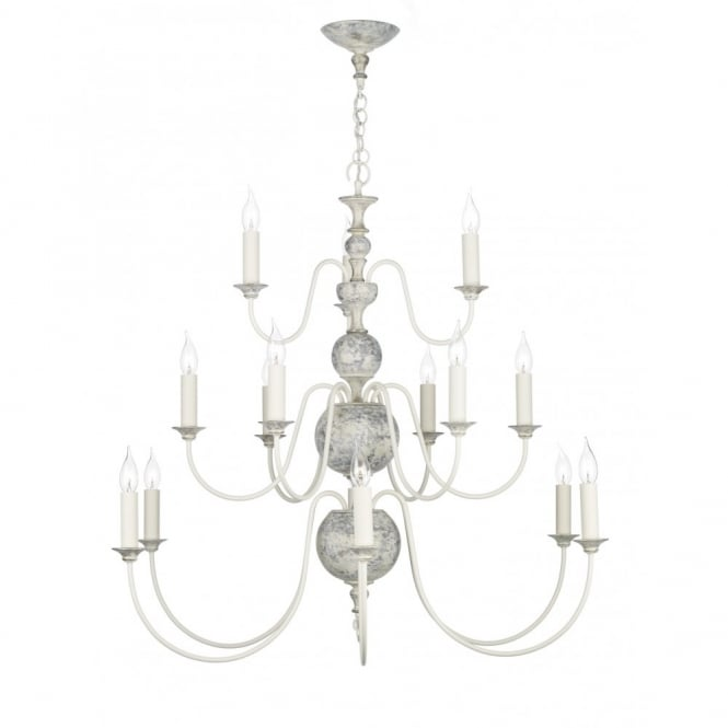 The David Hunt Lighting Collection FLEMISH large distressed chandelier