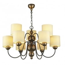 GARBO 9 light bronze ceiling light