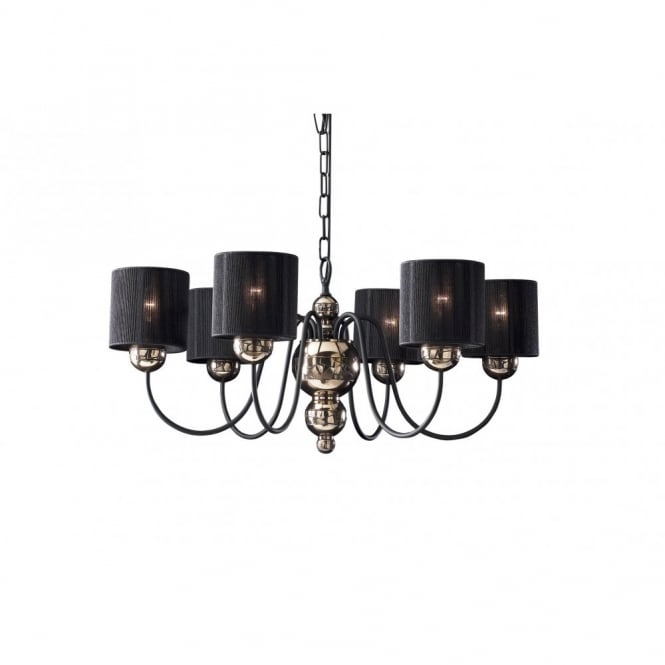 The David Hunt Lighting Collection GARBO bronze black high ceiling light