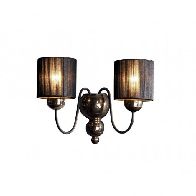 The David Hunt Lighting Collection GARBO bronze black wall light