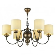 GARBO bronze ceiling light cream shades
