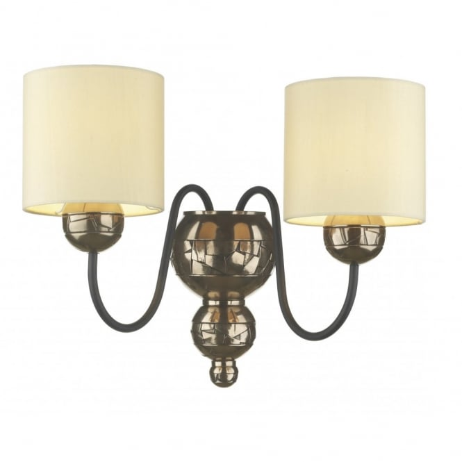 The David Hunt Lighting Collection GARBO double bronze wall light