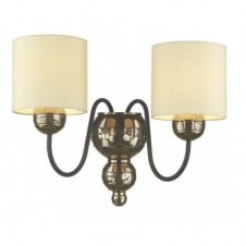 GARBO double bronze wall light