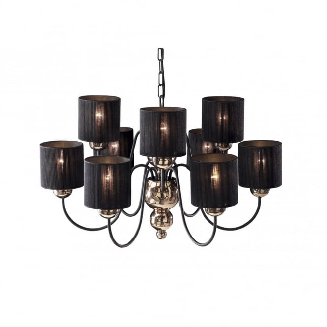 The David Hunt Lighting Collection GARBO large bronze black ceiling light