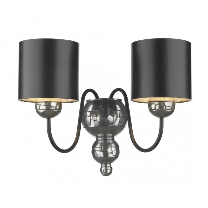 The David Hunt Lighting Collection GARBO pewter double wall light