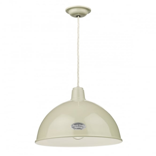 The David Hunt Lighting Collection GROUCHO rustic vintage style ceiling pendant in a French cream finish