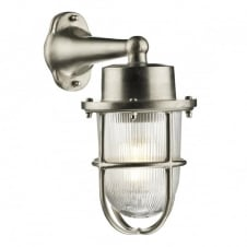 coastal style exterior wall light in a nickel finish