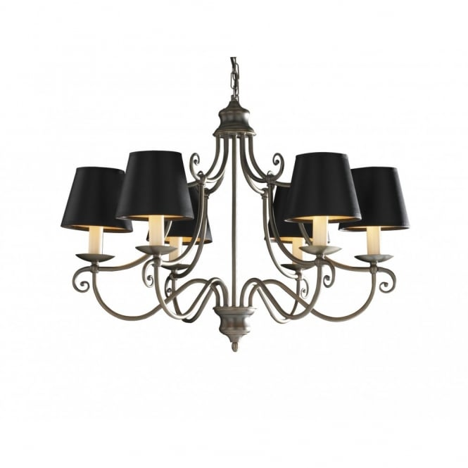 The David Hunt Lighting Collection HIDCOTE aged brass chandelier