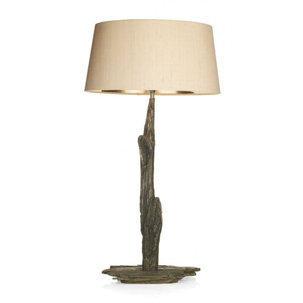 decorative rustic bronze table lamp with wooden design base only. Black Bedroom Furniture Sets. Home Design Ideas
