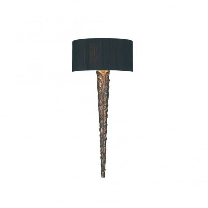 The David Hunt Lighting Collection KNURL period copper wall light with silk shade