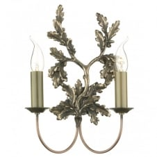 LEAF twin bronze wall light