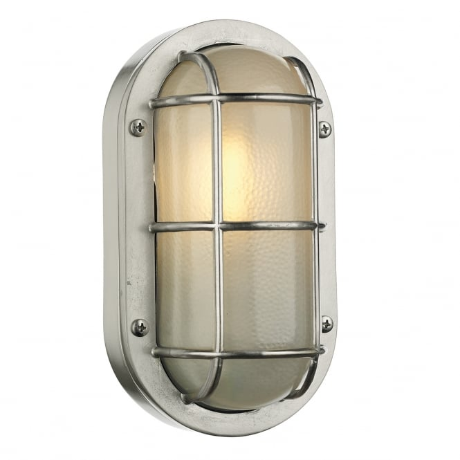 LIGHTHOUSE industrial coastal style outdoor bulkhead in nickel
