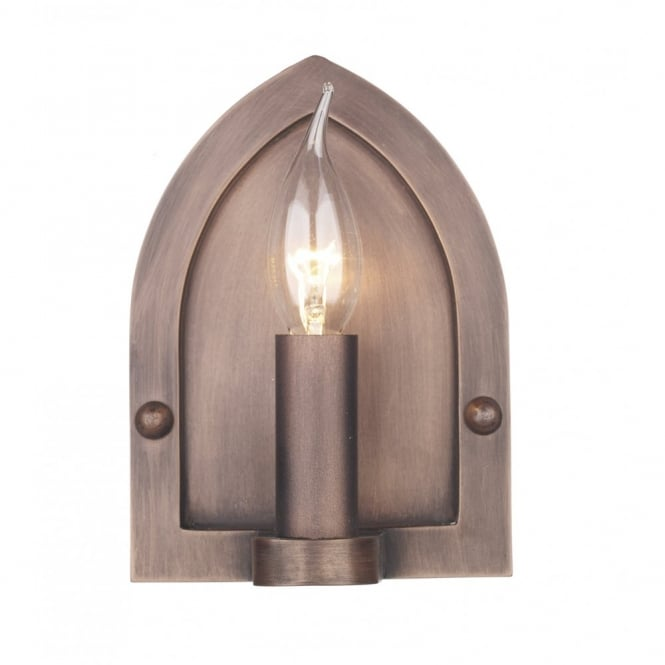 The David Hunt Lighting Collection LINDISFARNE copper period wall light