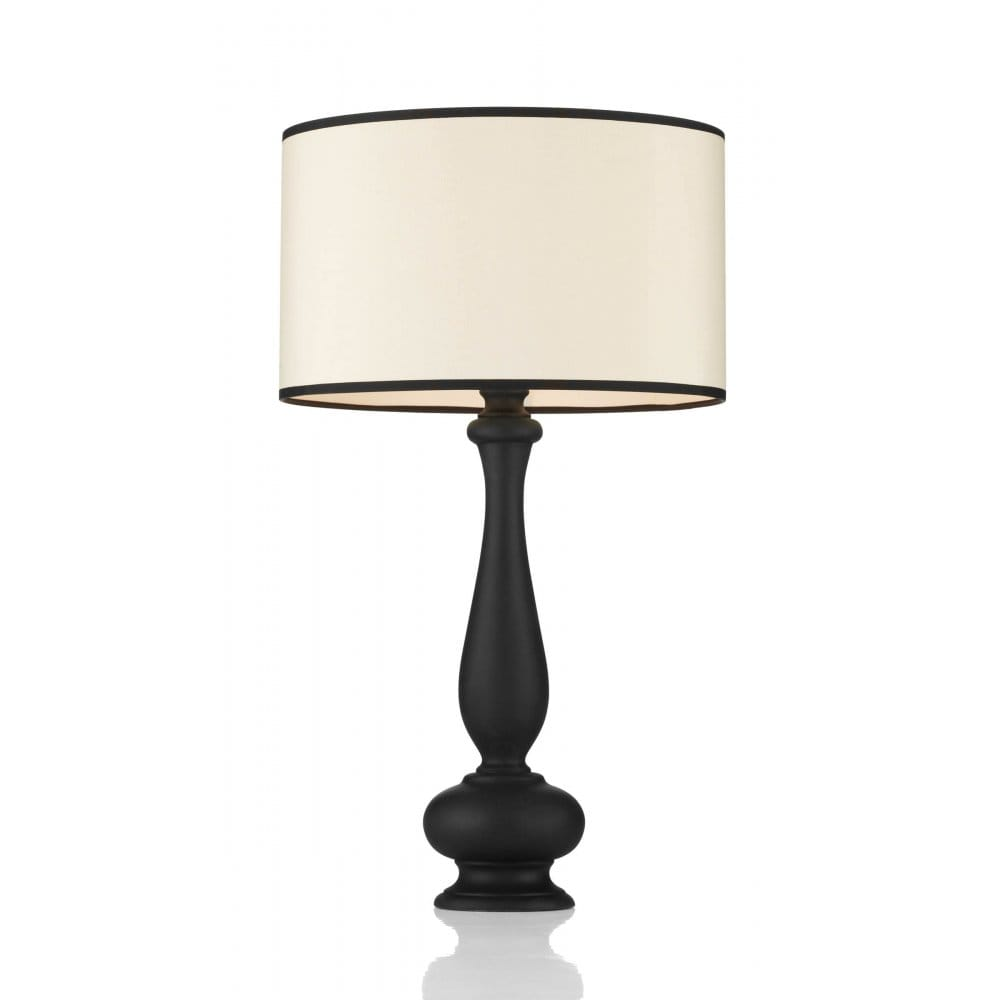 Traditional Black Table Lamp With Shade