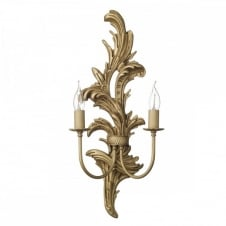 Classical gold wall lights rococo french style.