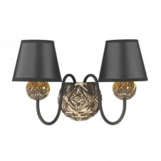 NOVELLA faceted bronze double wall light