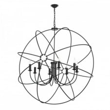 ORB 8lt rustic gyroscope ceiling pendant in a black finish