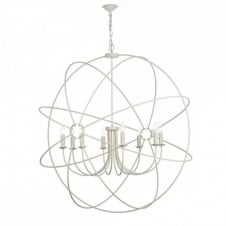 ORB 8lt rustic gyroscope ceiling pendant in a cream finish