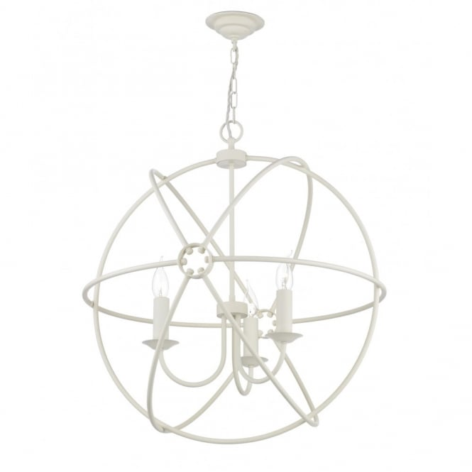 The David Hunt Lighting Collection ORB cream gyroscope ceiling pendant light
