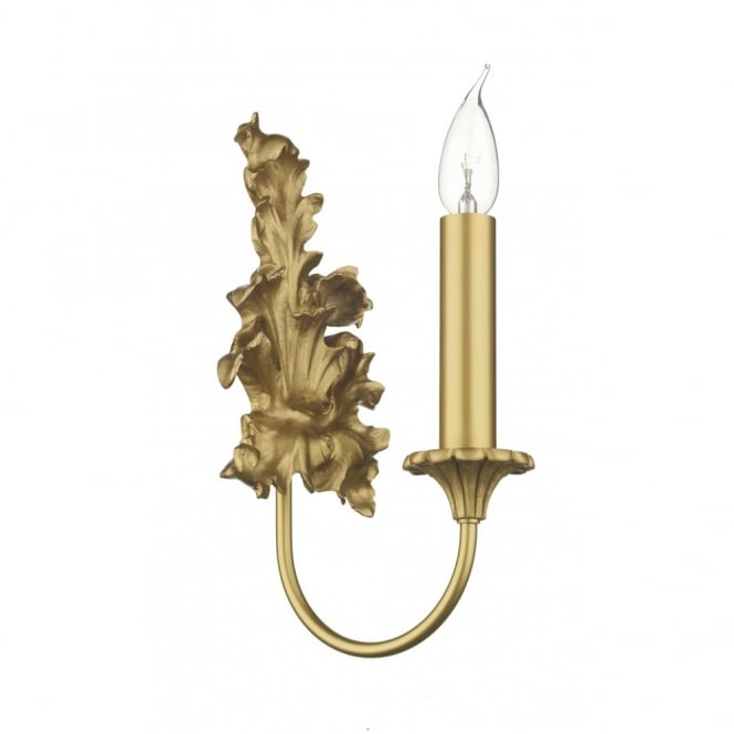 The David Hunt Lighting Collection ORMOLU traditional antique gold wall light