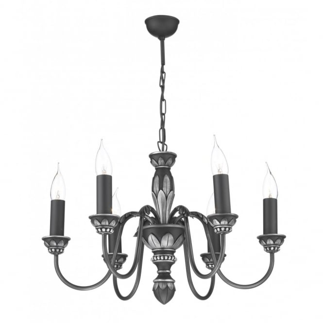 The David Hunt Lighting Collection OXFORD antique pewter ceiling light