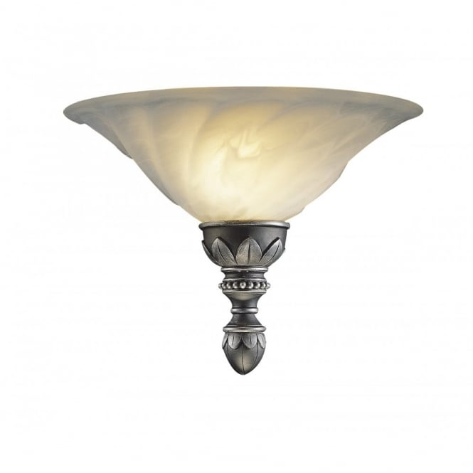 The David Hunt Lighting Collection OXFORD antique pewter wall uplighter