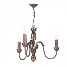OXFORD copper ceiling pendant light 3lt