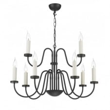 PIGALLE 9 light chocolate finish chandelier