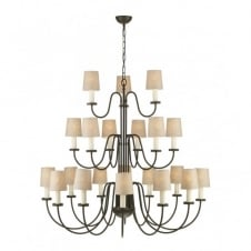 PIGALLE traditional 21 light chandelier in chocolate finish (no shades)