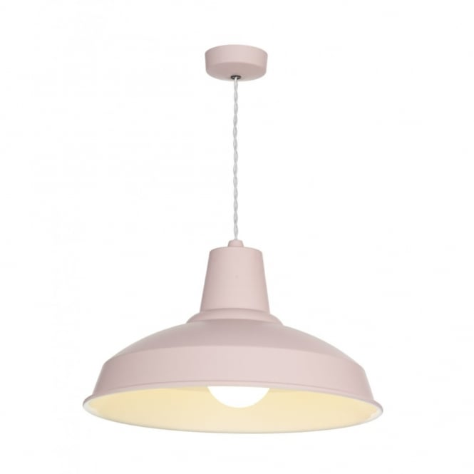 The David Hunt Lighting Collection RECLAMATION cotton candy & cream inner pendant