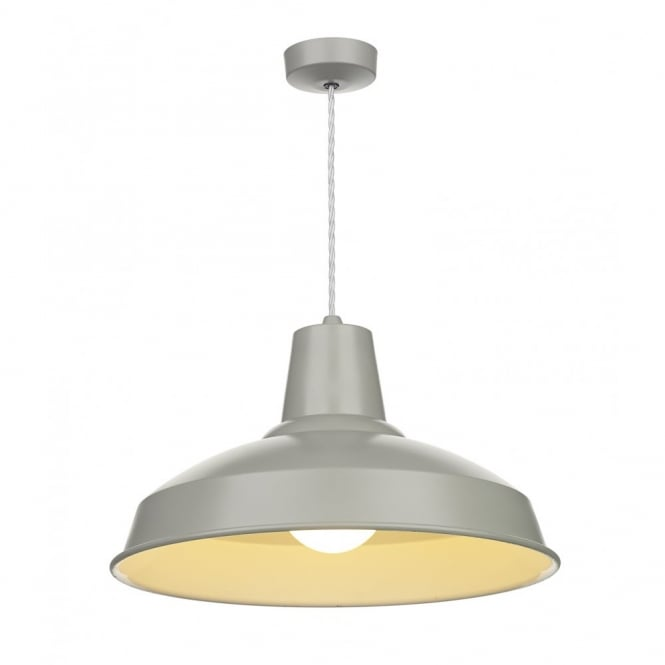 The David Hunt Lighting Collection RECLAMATION grey ceiling pendant