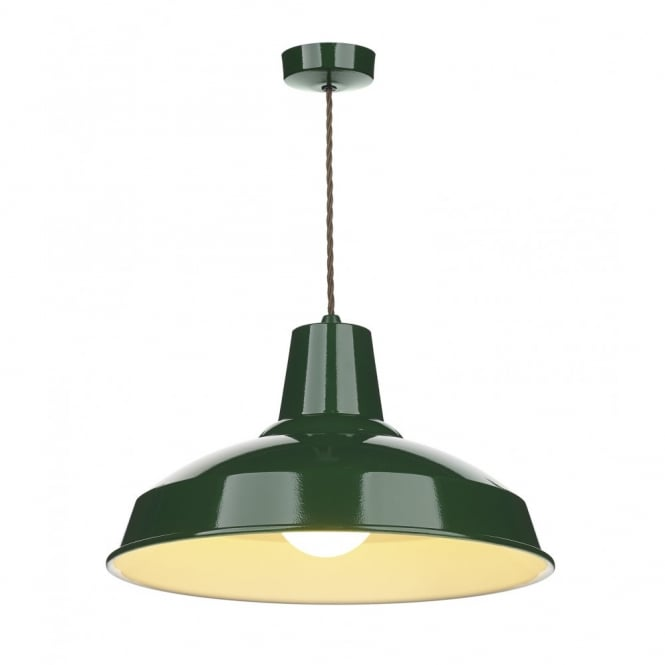 The David Hunt Lighting Collection RECLAMATION recing green ceiling pendant