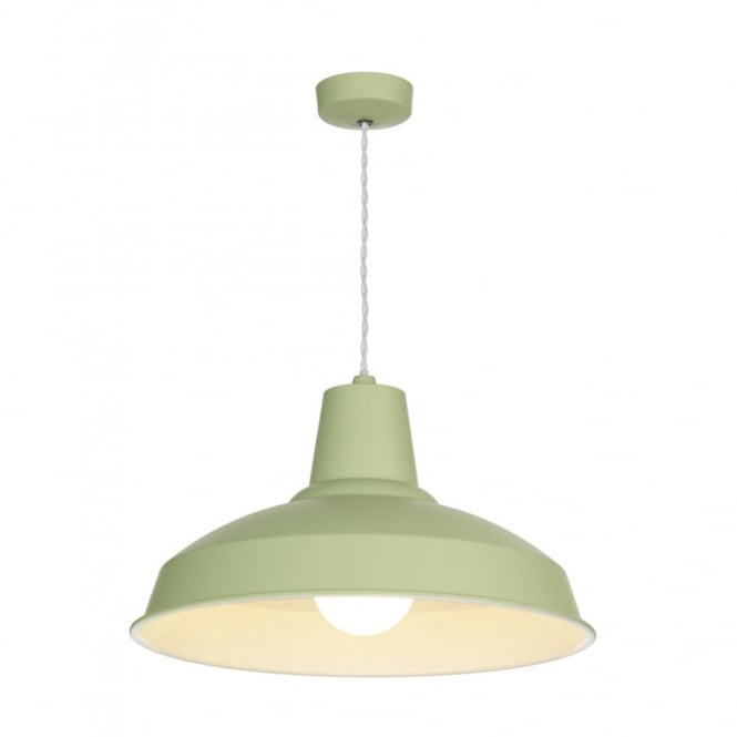 The David Hunt Lighting Collection RECLAMATION soft sage & cream inner pendant