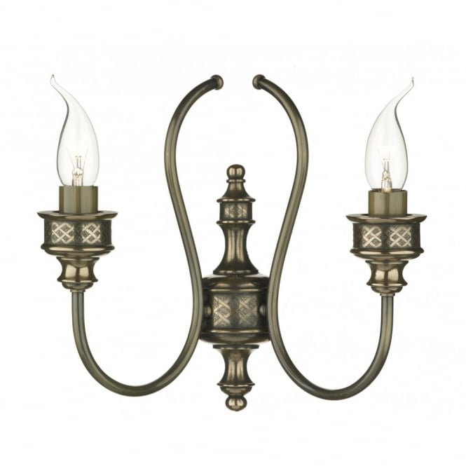 The David Hunt Lighting Collection RELIC traditional double bronze wall light