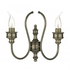 RELIC traditional double bronze wall light