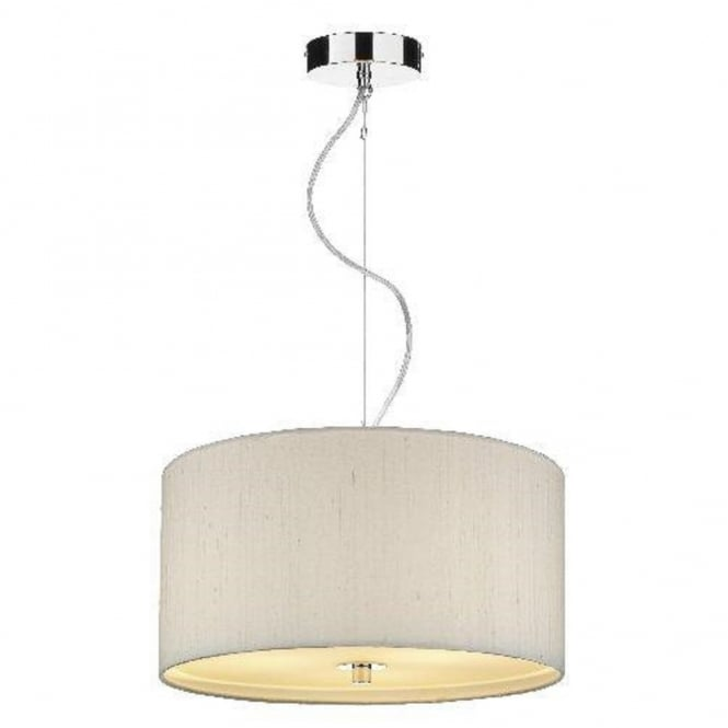 The David Hunt Lighting Collection RENOIR ivory silk ceiling pendant light