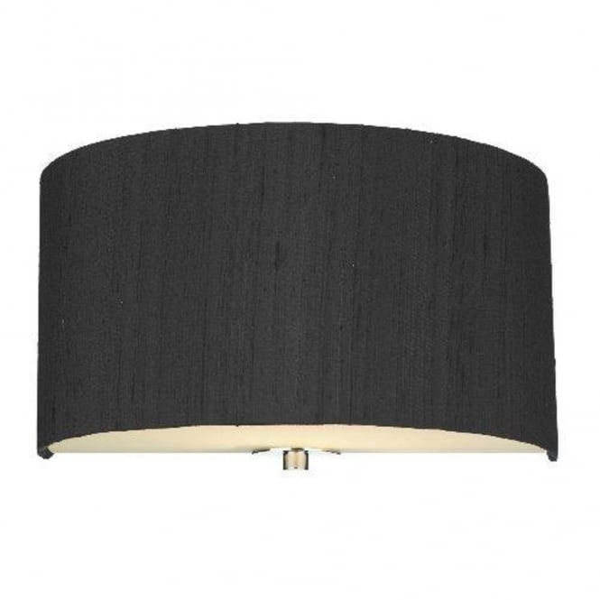 The David Hunt Lighting Collection RENOIR semi-circular black silk wall light