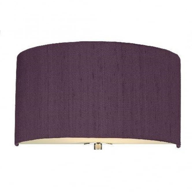 The David Hunt Lighting Collection RENOIR semi-circular blackcurrant wall light