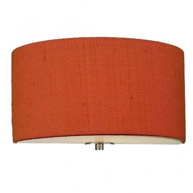 The David Hunt Lighting Collection RENOIR semi-circular firefly orange wall light