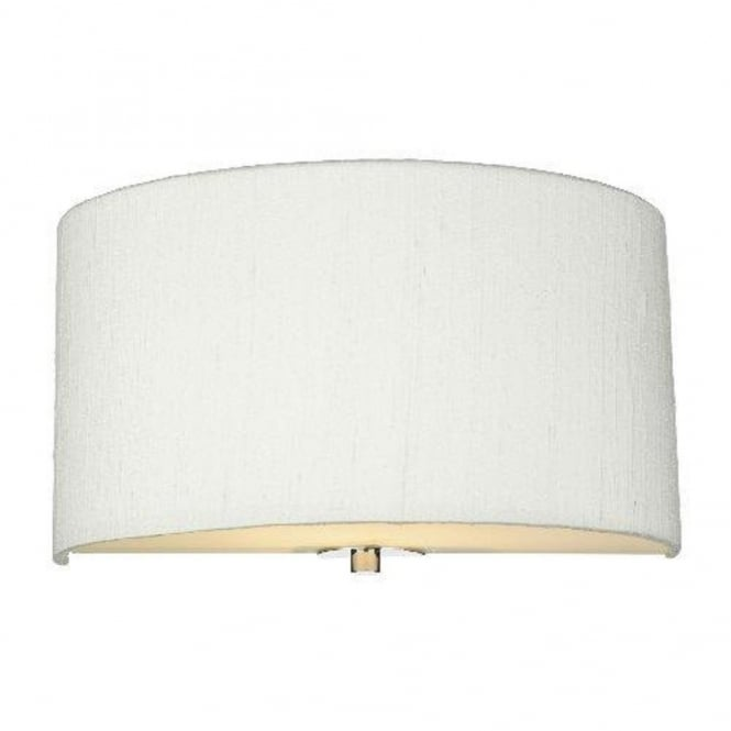 The David Hunt Lighting Collection RENOIR semi-circular ivory silk wall light