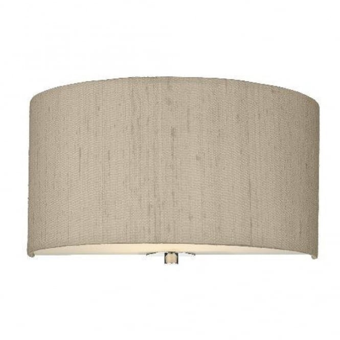 The David Hunt Lighting Collection RENOIR semi-circular taupe silk wall light