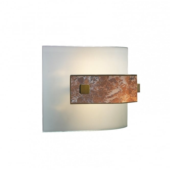 The David Hunt Lighting Collection SAVOY curved marbled glass wall light
