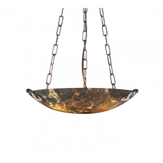 The David Hunt Lighting Collection SAVOY dark marble ceiling light