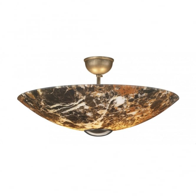 The David Hunt Lighting Collection SAVOY dark marble ceiling uplighter