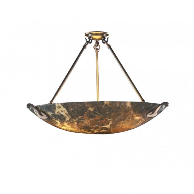 The David Hunt Lighting Collection SAVOY dark marble glass uplighter