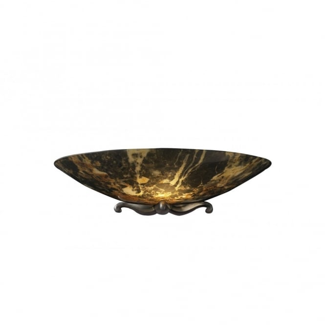 The David Hunt Lighting Collection SAVOY dark marble wall light