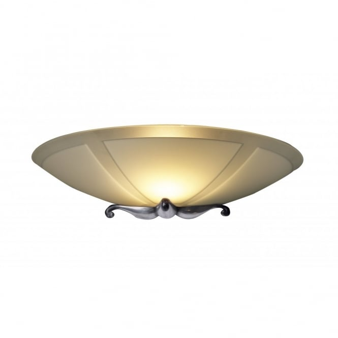 The David Hunt Lighting Collection SAVOY glass and pewter wall light