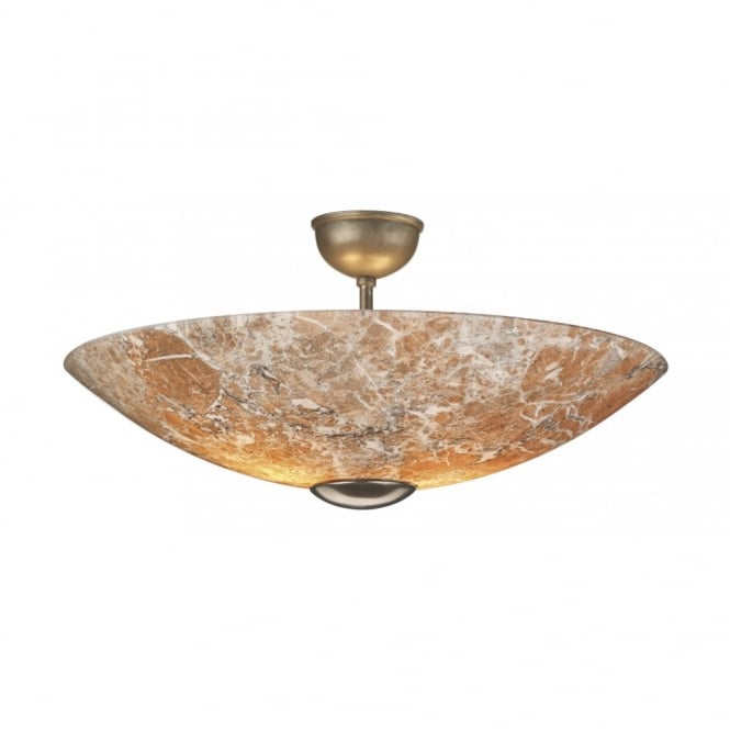 The David Hunt Lighting Collection SAVOY marbled glass ceiling light