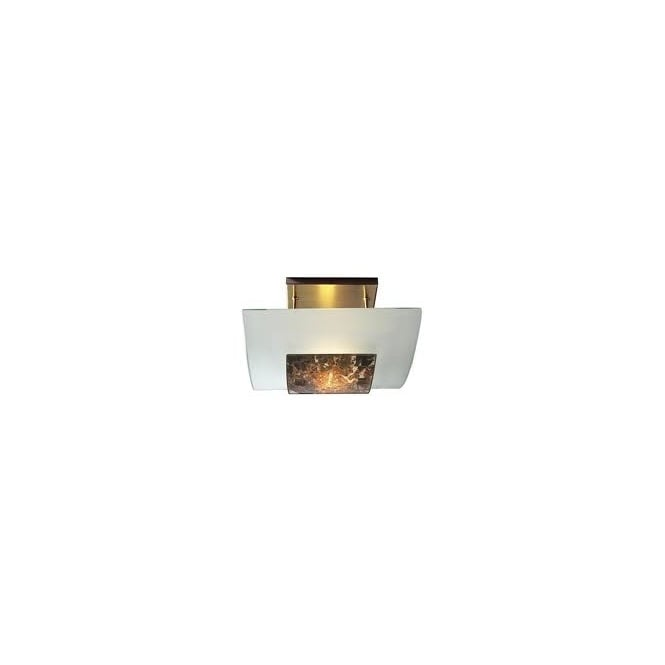 The David Hunt Lighting Collection SAVOY marbled glass low ceiling light