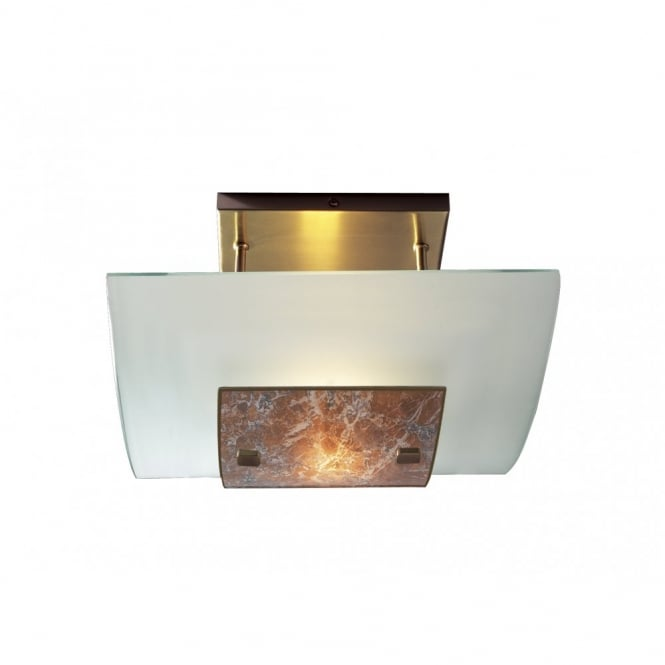The David Hunt Lighting Collection SAVOY marbled low ceiling light